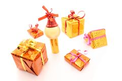 Gifts and small man Stock Image