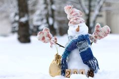 Gifts and smiles in the winter holidays Royalty Free Stock Photo
