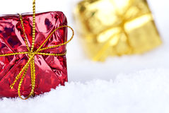 Gifts in the Snow Stock Photo