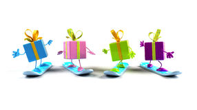 Gifts snowboarding Stock Photography