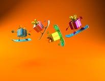 Gifts snowboarding Stock Photos