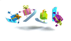 Gifts snowboarding Stock Images