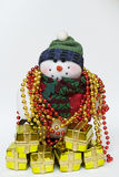 Gifts & snowman Royalty Free Stock Images