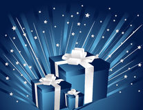 Gifts and stars Royalty Free Stock Photo
