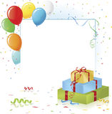 Gifts and Surprise Party Layout Stock Image
