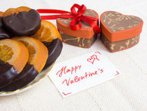 Gifts and sweets for Valentine's Day Stock Images