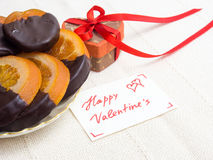 Gifts and sweets for Valentine's Day Royalty Free Stock Photography