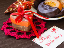 Gifts and sweets for Valentine's Day Royalty Free Stock Images