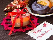 Gifts and sweets for Valentine's Day Stock Photo