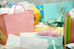 Gifts on Table Royalty Free Stock Images