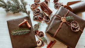 Gifts time stock image