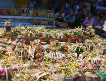 Gifts to gods on a religious holiday.Bali Stock Photography