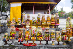 Gifts to the spirits in Hindu ceremony Nusa Penida-Bali, Indonesia Royalty Free Stock Photo