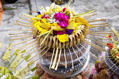 Gifts to the spirits in Hindu ceremony Nusa Penida-Bali, Indonesia Stock Photos