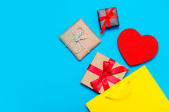 Gifts, toy and bag Stock Image