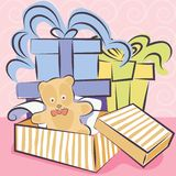 Gifts and toy vector Stock Images