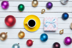 Gifts toys and cup Royalty Free Stock Images