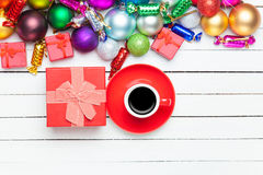 Gifts toys and cup Royalty Free Stock Photo