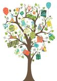 Gifts tree. Stock Images