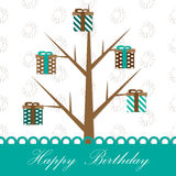Gifts tree Stock Photography