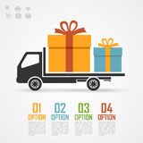 Gifts truck Royalty Free Stock Photo