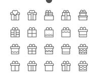 Gifts UI Pixel Perfect Well-crafted Vector Thin Line Icons 48x48 Ready for 24x24 Grid for Web Graphics and Apps with. Editable Stroke. Simple Minimal Pictogram Royalty Free Stock Image