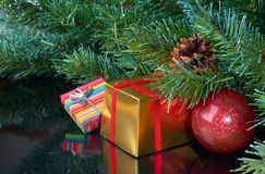 Gifts  under a Christmas tree Royalty Free Stock Image