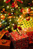 Gifts under Christmas tree Royalty Free Stock Image