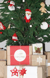 Gifts under Decorated Christmas Tree Stock Image