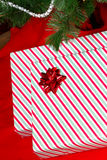 Gifts Under Tree Angled Royalty Free Stock Photo