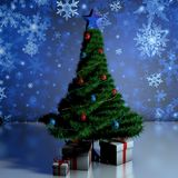 Gifts under the tree Royalty Free Stock Photography