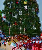 Gifts under the tree Stock Image