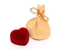 Gifts on valentine day Royalty Free Stock Photos