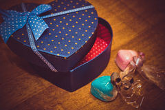 Gifts for Valentine's day Royalty Free Stock Photos