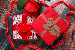Gifts for valentines Stock Photos