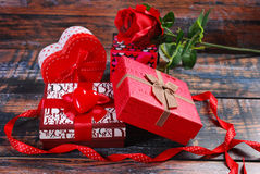 Gifts for valentines Royalty Free Stock Images