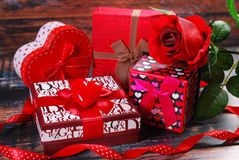Gifts for valentines Stock Photo