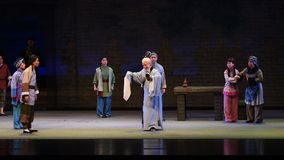 """The gifts of the villagers-Shanxi Operatic""""Fu Shan to Beijing"""" stock footage"""