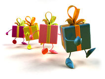 Gifts walking stock images