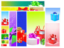 Gifts Web Banner Design Royalty Free Stock Photos