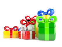 Gifts. On white background Stock Photo