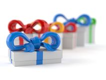 Gifts. On white background Stock Images