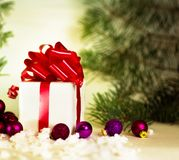 Gifts on a white background Stock Photos