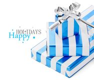 Gifts on white background Stock Images