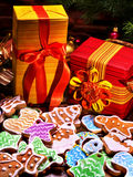 Gifts for the whole family at Christmas. Royalty Free Stock Image