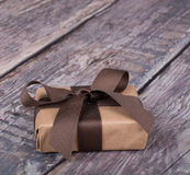 Gifts Wrapped in Brown Paper Royalty Free Stock Photos