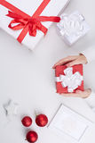 Gifts and xmas symbols Royalty Free Stock Photography
