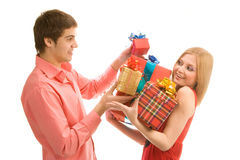 Gifts for you! Royalty Free Stock Photo