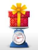 Giftsymbool op schaalpan Stock Foto's