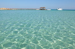 Giftun Island. On the pier in Egypt, Hurghada Royalty Free Stock Photo